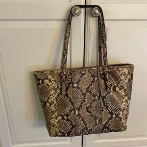 Michael Kors Python leather medium tote bag